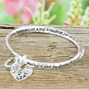 Jewelry - Mother & Daughter Silver Bangle